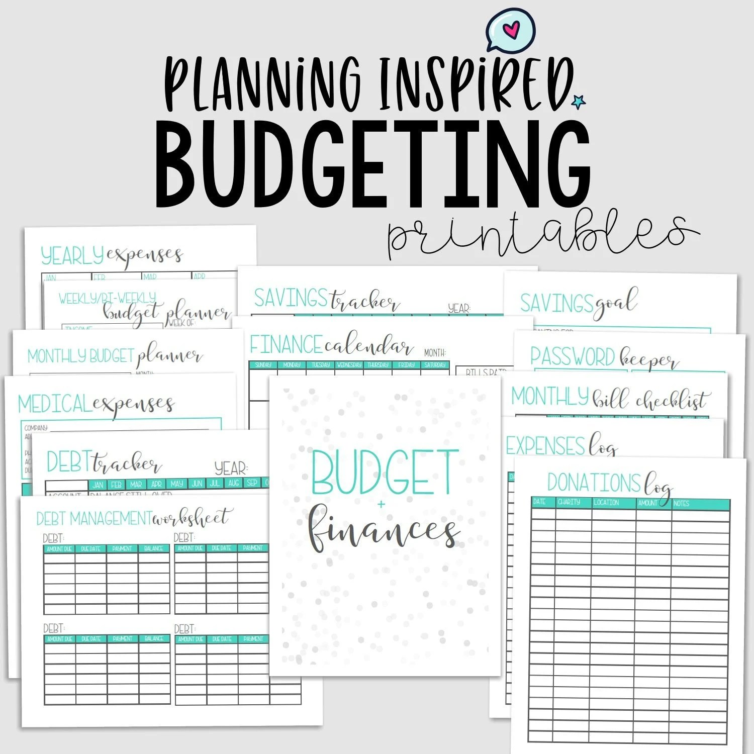 Budget Printables Finance Planner Printable Budget