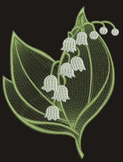 Lily Of The Valley Embroidery : valley, embroidery, Valley, Bouquet, Machine, Embroidery, Design, Tested