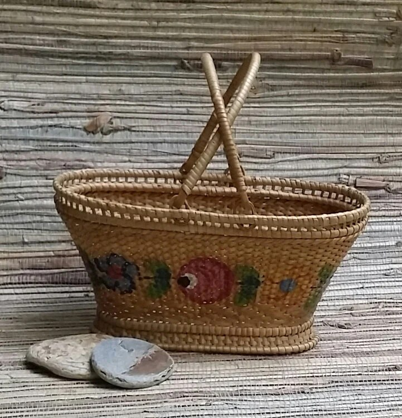 antique chinese basket rice