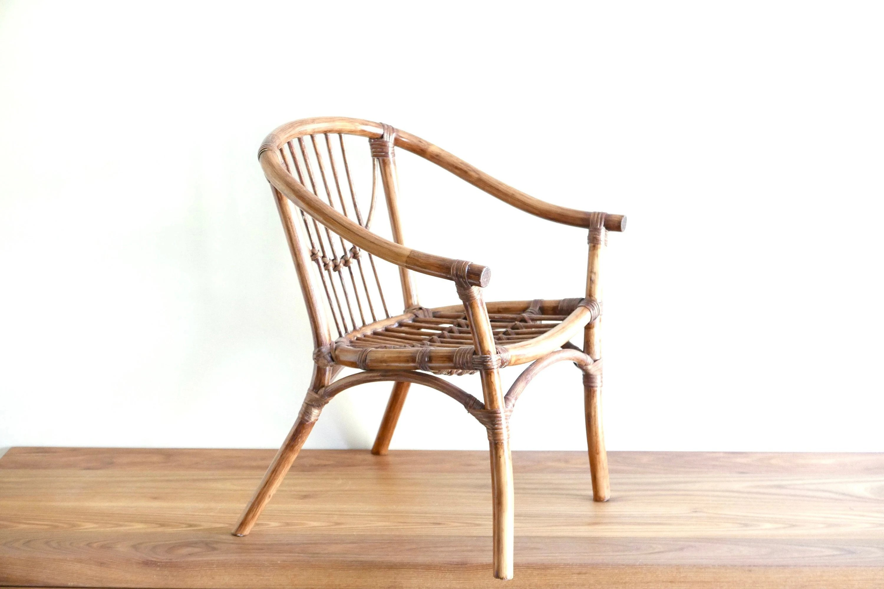childs rattan chair slipper target child s bamboo etsy kids furniture french vintage and armchair 1950s bedroom mid century modern boho chic bohemian