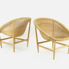 Round Wicker Chair Office Chairs Max Etsy Vintage The Ditzel By Nanna