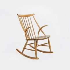 Danish Modern Rocking Chair Antique Morris By Illum Wikkelso For Niels Etsy Image 0