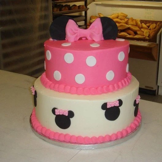 Minnie Mouse Birthday Cake 2 Tiers Etsy