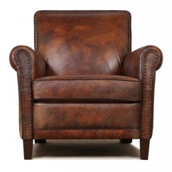 Genuine Leather Chair Wood Accent Chairs High End Club Cigar