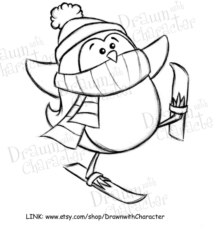 Penguin Digital Clip Art Kopykake Image