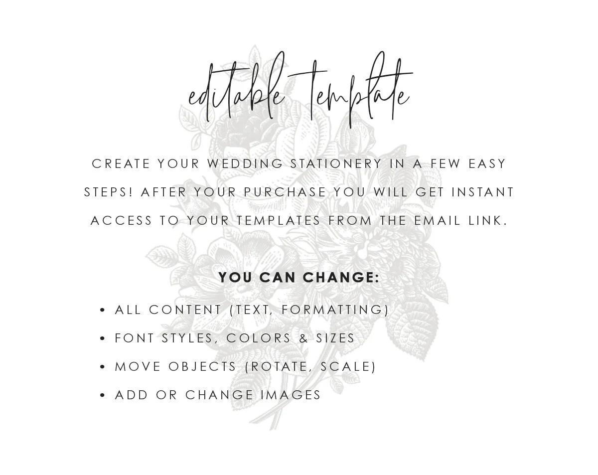 Emerald Gold Wedding Program Template Printable Green Leaf