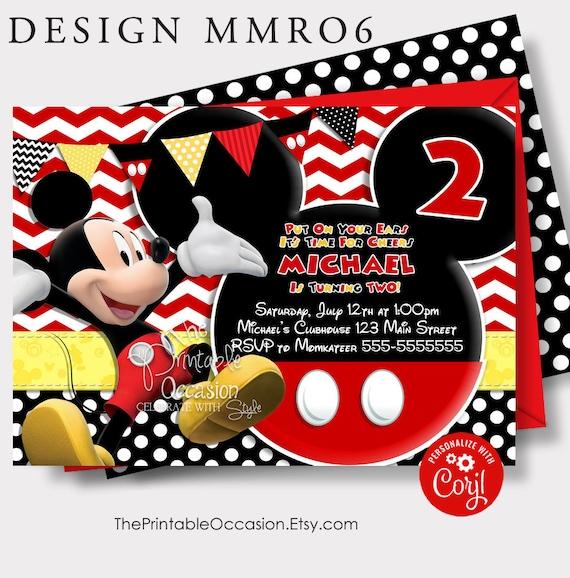 editable mickey mouse invitation