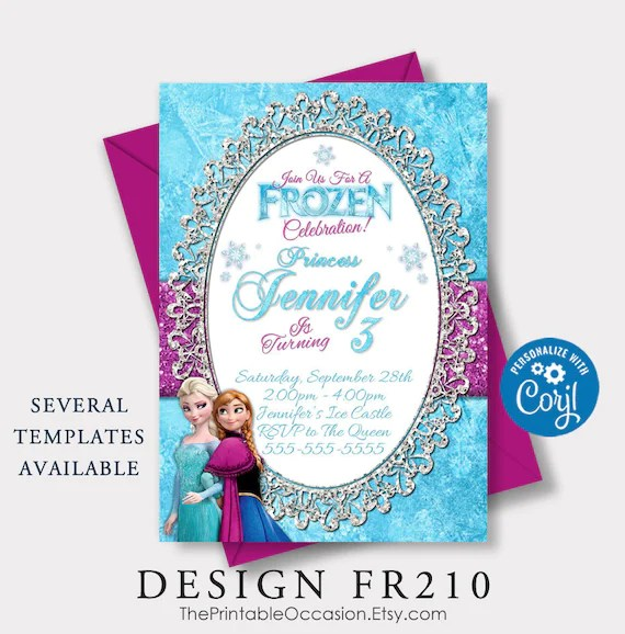 editable frozen birthday invitation frozen birthday party frozen invitations frozen birthday invitation instant download corjl
