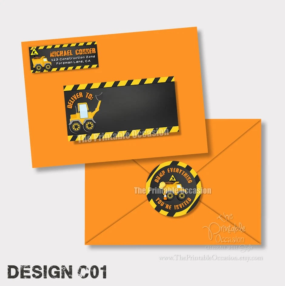 construction envelope labels construction