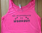 On Wednesdays We Workout -Oversized Boxy Crop Tank inspired by Mean Girls
