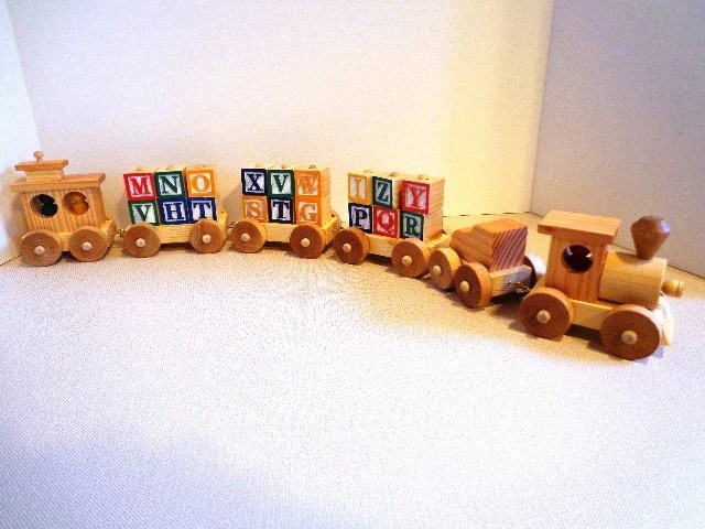Wooden Toy Train Set Heirloom Quality Classic Toy Hand Etsy