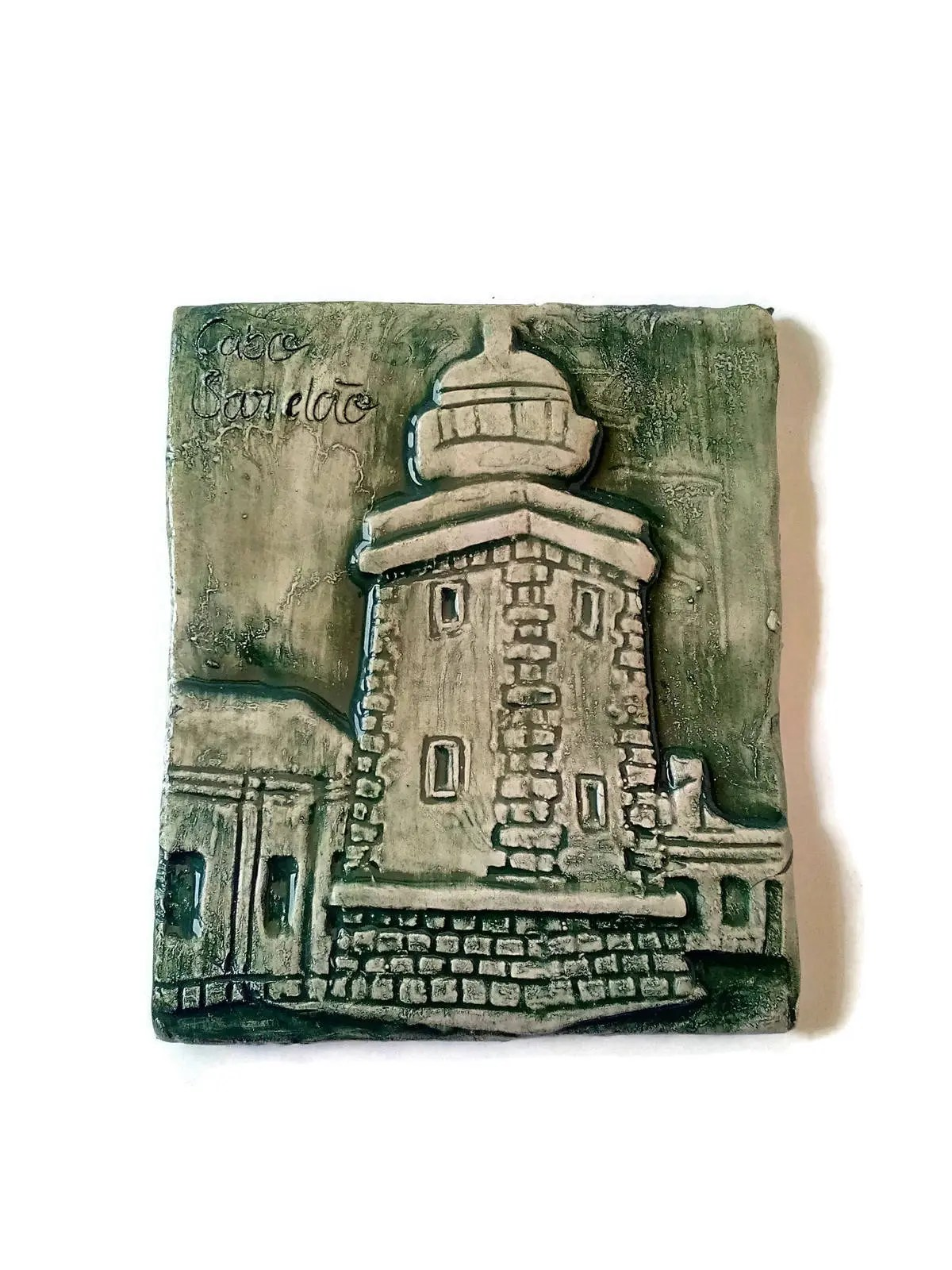 decorative ceramic tiles kitchen yellow table lighthouse tile with low relief etsy image 0