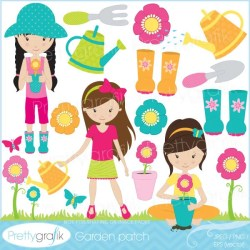 BUY 20 GET 10 OFF gardening clipart commercial use vector graphics digital clip art digital image dancing CL534 by Prettygrafik design Catch My Party