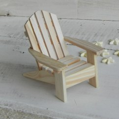 Wood Beach Chairs Ll Bean All Weather Adirondack Chair Miniature Ready To Paint Supplies For Etsy