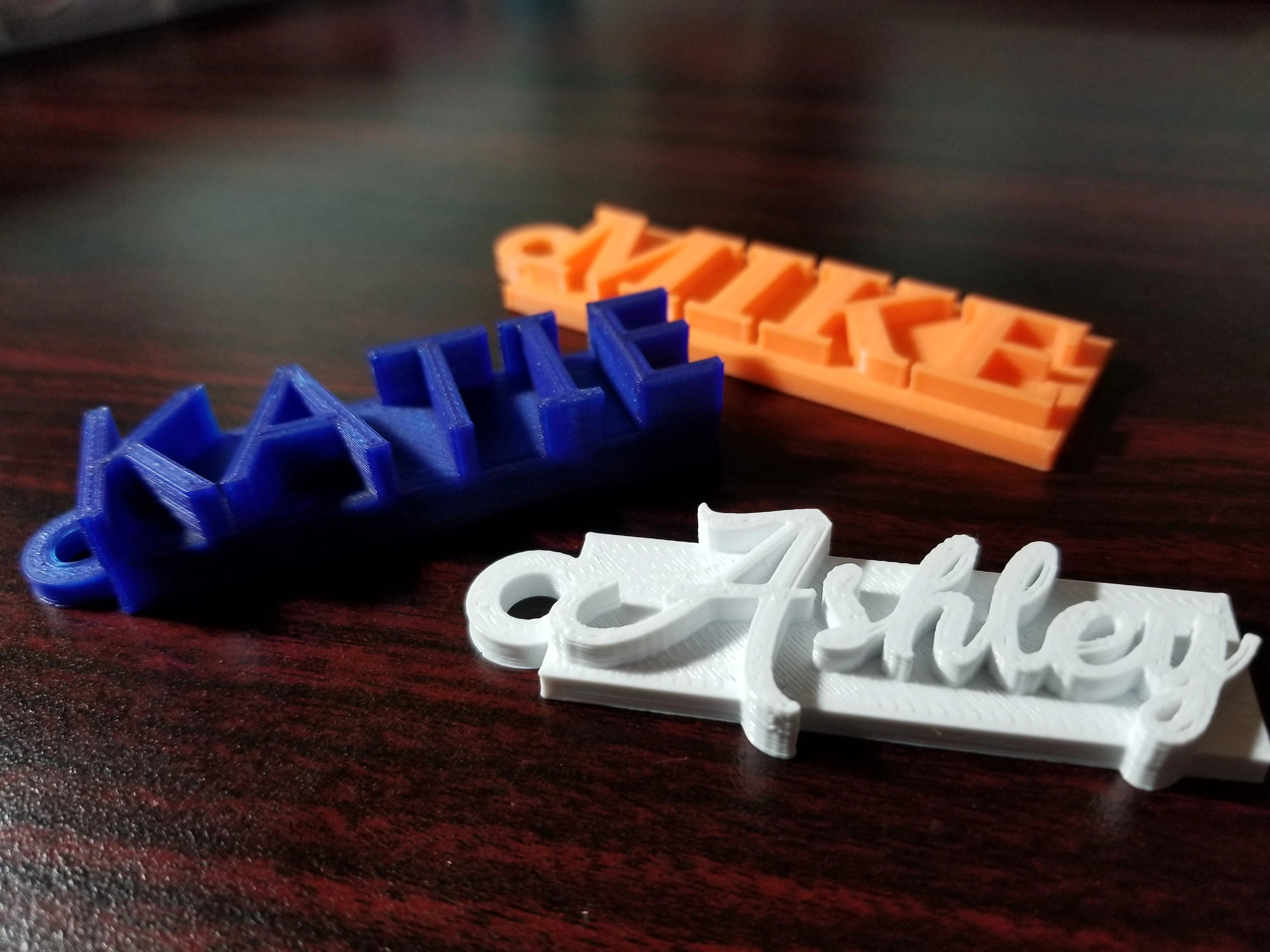3d printed personalized keychain