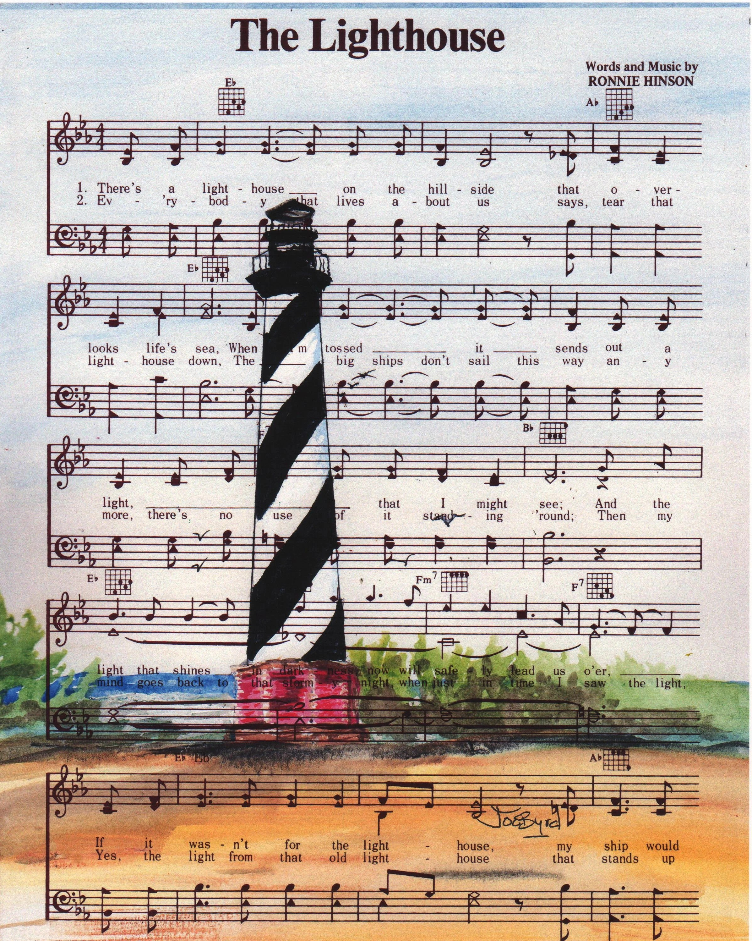 I Thank God For The Lighthouse Lyrics : thank, lighthouse, lyrics, Hatteras, Lighthouse, Original, Printlighthouse