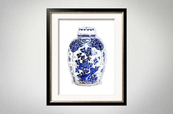5c76ebb7632 Amazon Blue And White China Art Ginger Jar Painting Ginger ...
