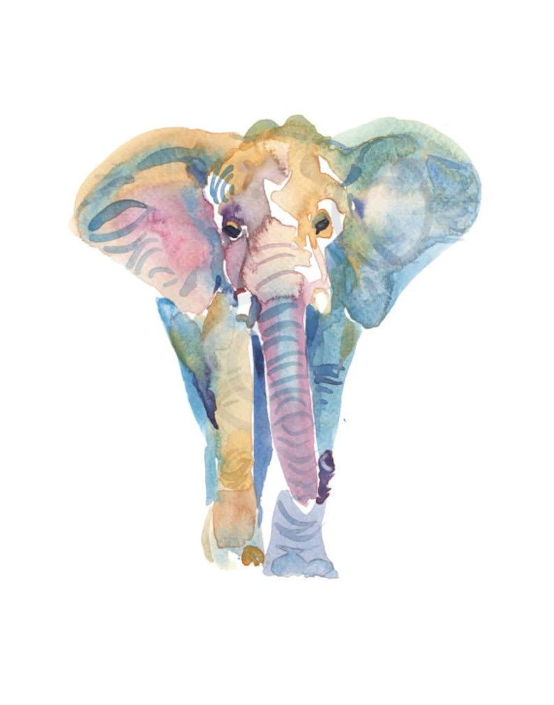 elephant painting watercolor watercolor