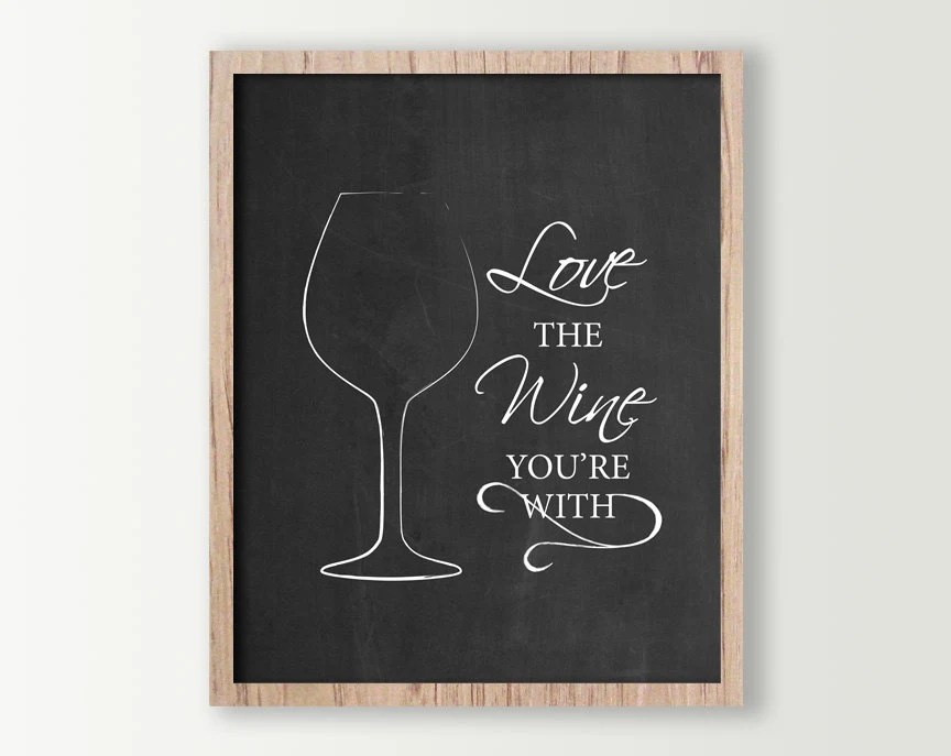 Wine Wall Decor Wine Sign Kitchen Signs Wine Prints Etsy