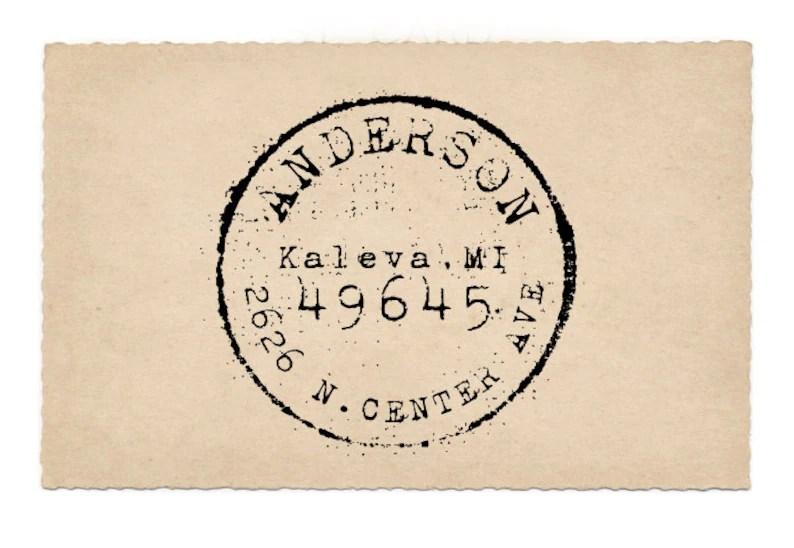 custom address stamp round