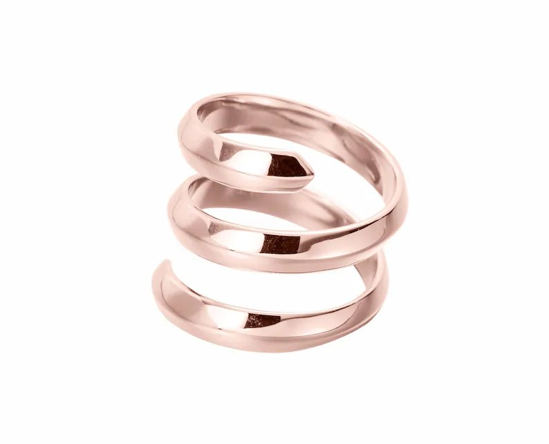 Rose Gold Dipped Silver Ring For Women Promise Ring For Girl For Her Sterling Silver Promise Ring For Girlfriend For Wife By Majade