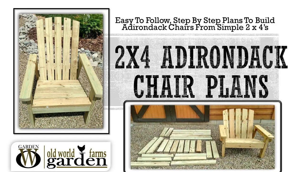 plans for adirondack chair pottery barn swivel 2x4 diy simple a etsy image 0