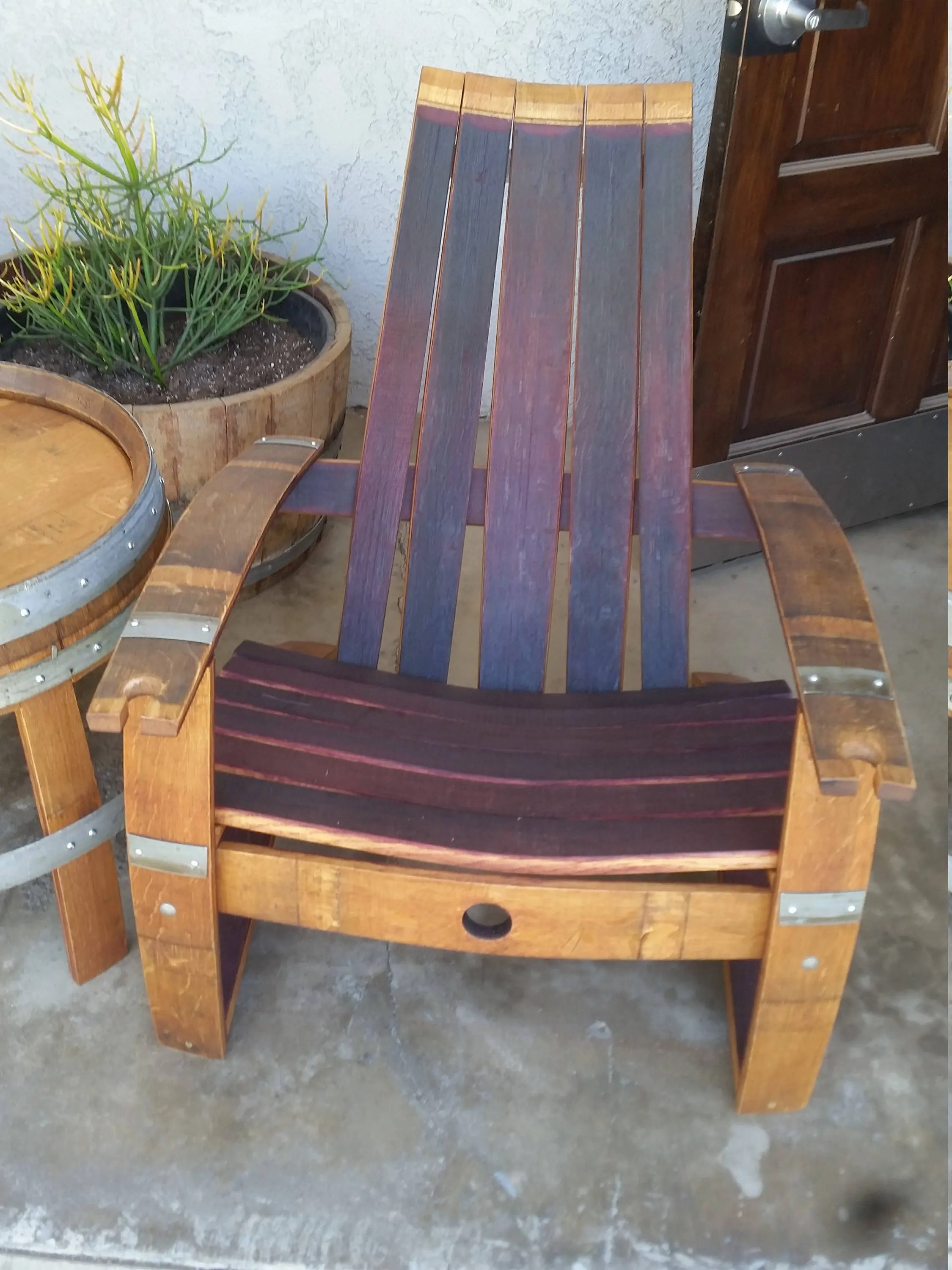 adirondack wine barrel chairs tables and for party to hire chair with free shipping etsy 2