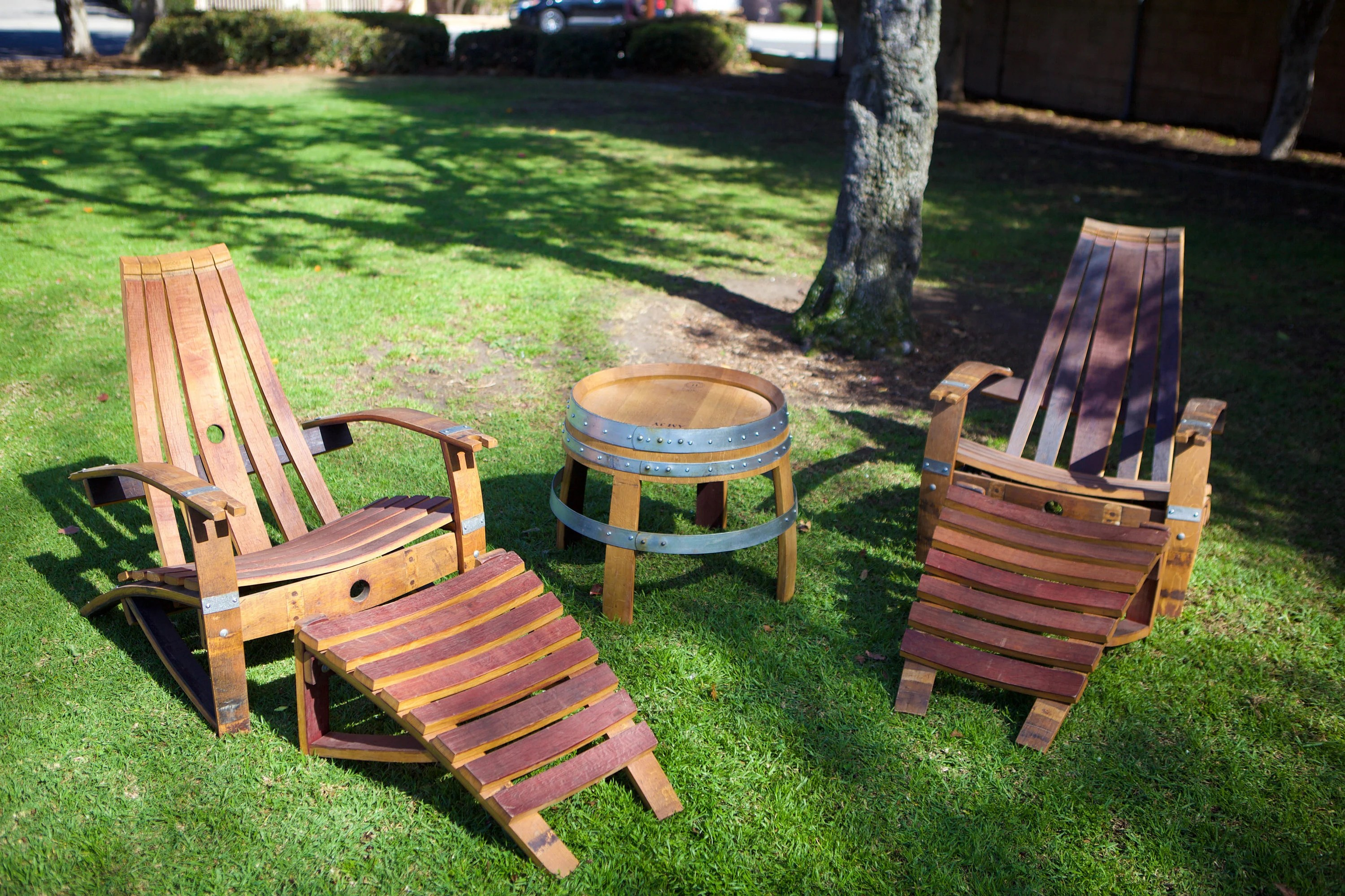 adirondack wine barrel chairs cream faux leather accent chair 2 side table set plus etsy ottomans
