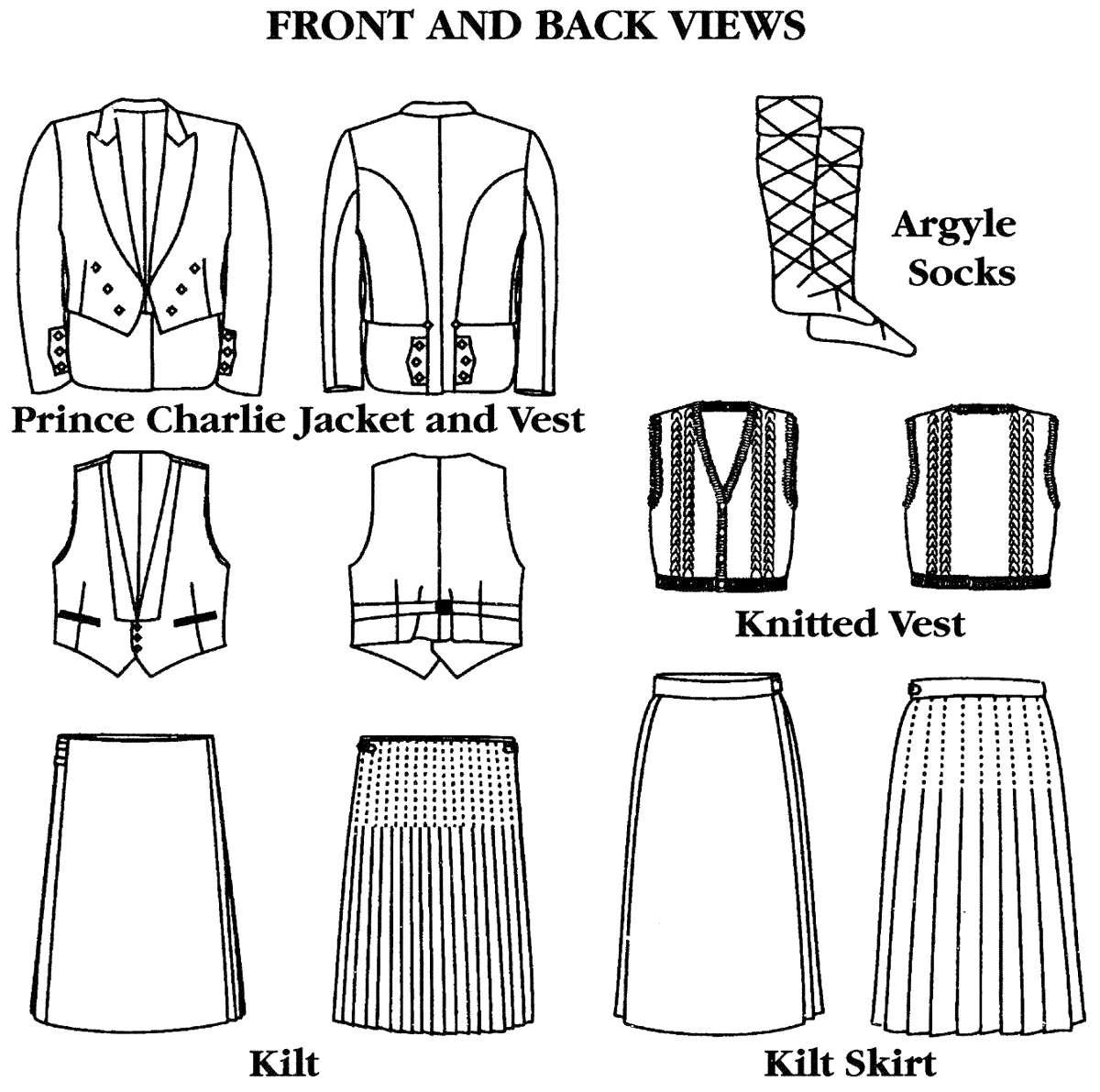 Men's Folkwear Scottish Kilts, Prince Charlie Jacket