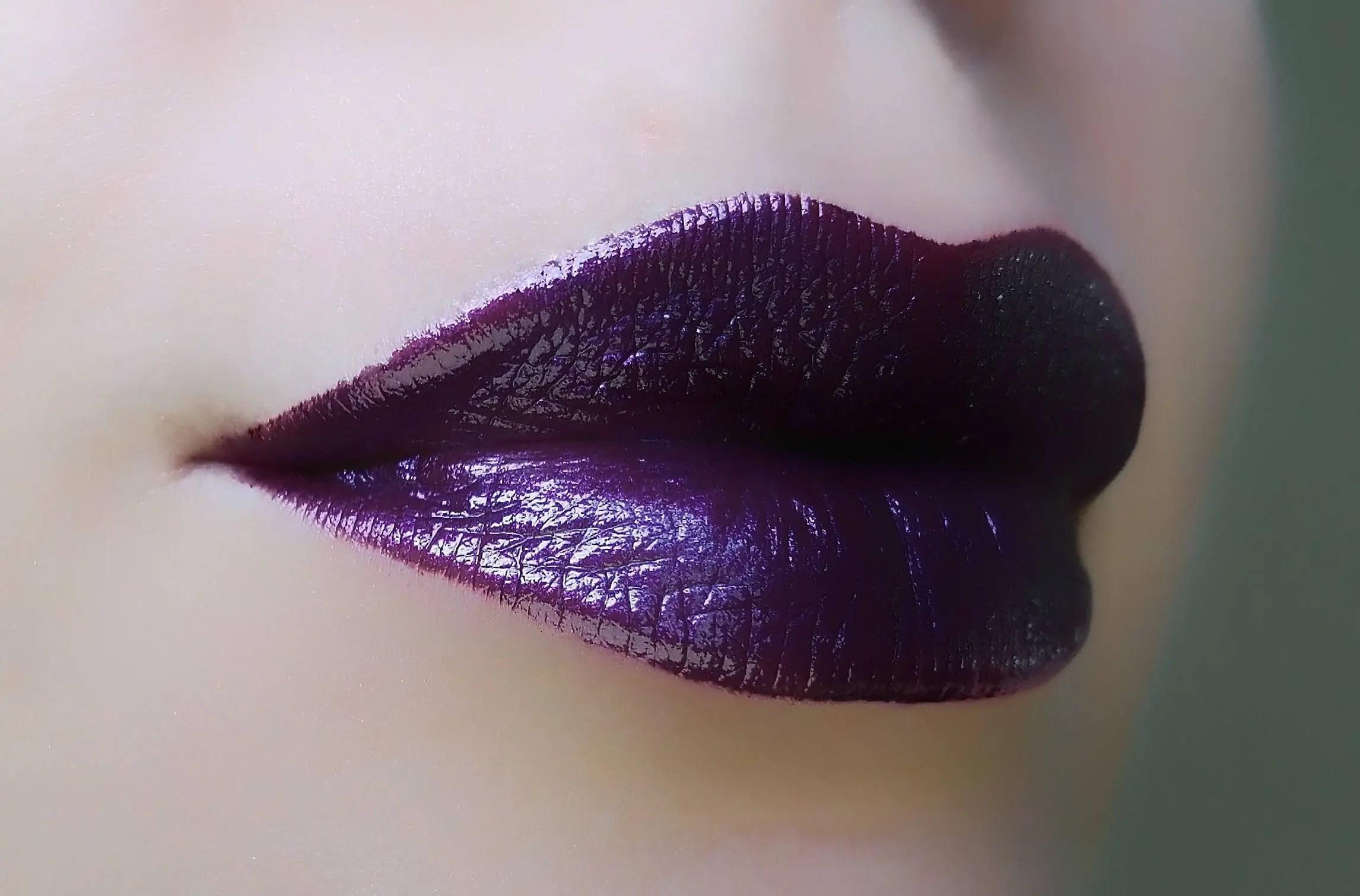 lilith dark purple lipstick