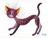 "Postcard ""Purple cat"""