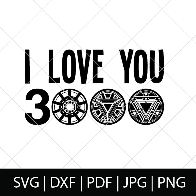 Download Avengers I Love You 3000 SVG Iron Man Svg Avengers Endgame ...