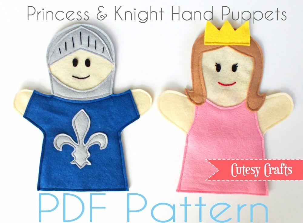felt hand puppets pattern