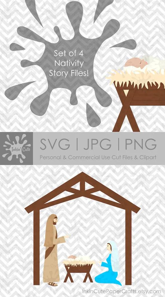 Manger Svg : manger, Nativity, Bible, Clipart, Scene, Manger