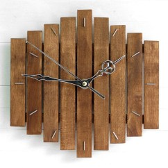Rustic Kitchen Clock Wall Fan Thanksgiving Gift Wooden Romb I Etsy Image 0
