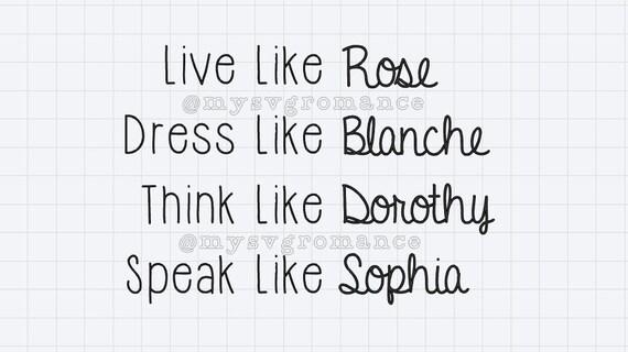 Download Golden Girls Live Like Rose Dress Like Blanche Think | Etsy