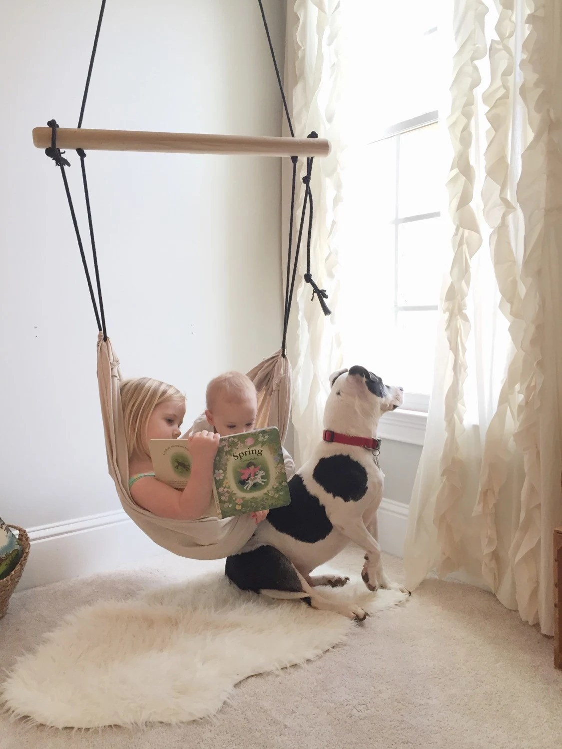 hammock chair swings armless accent children s swing etsy image 0