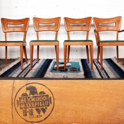 Heywood Wakefield Dogbone Chairs Swing Chair Mamas And Papas Original Set Of Four Dining Etsy Image 0