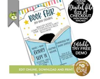 book fair poster etsy