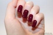 burgundy short square nails nail