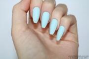 matte pastel blue coffin nails
