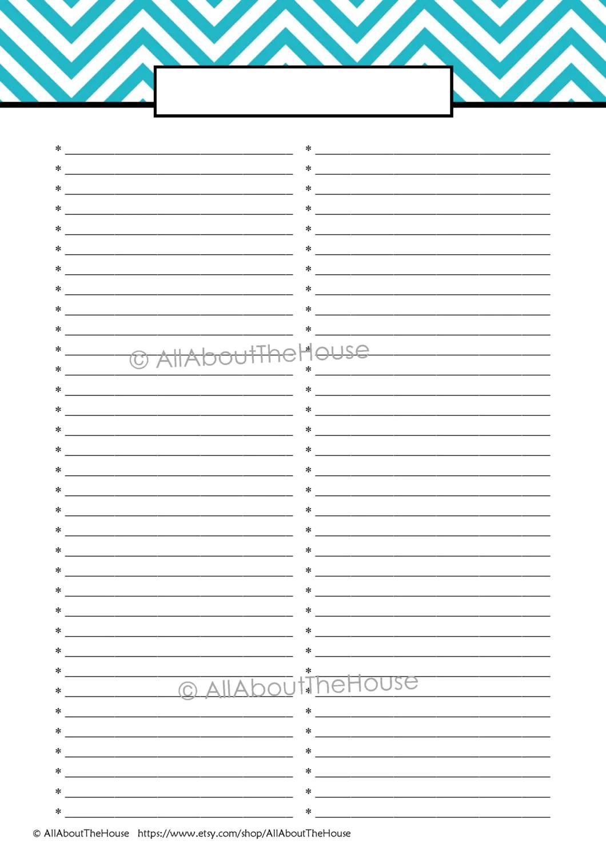 Editable Printable To Do List Printable Shopping List