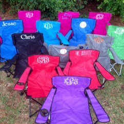 Folding Yard Chair Copa Beach Cup Holder Replacement Monogrammed Lawn Bag Etsy Image 0