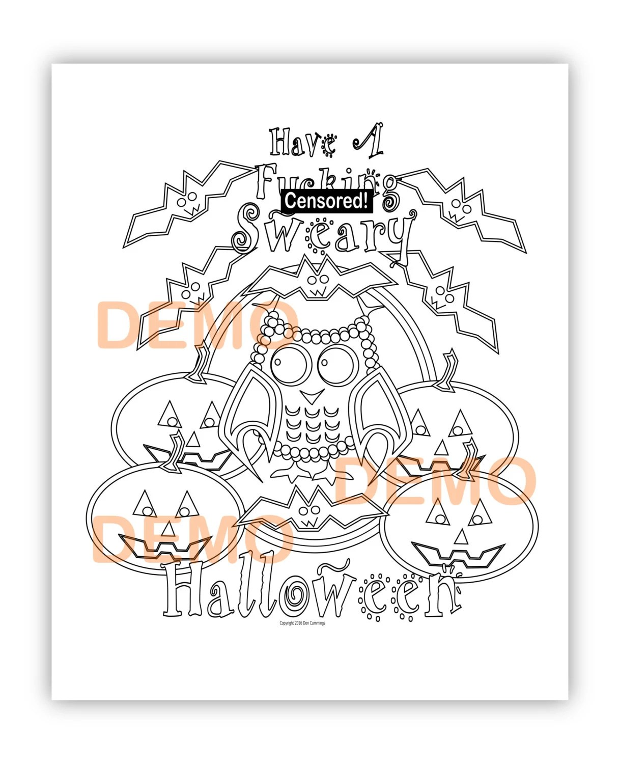 Have A Fucking Sweary Halloween-Instant Digital Download