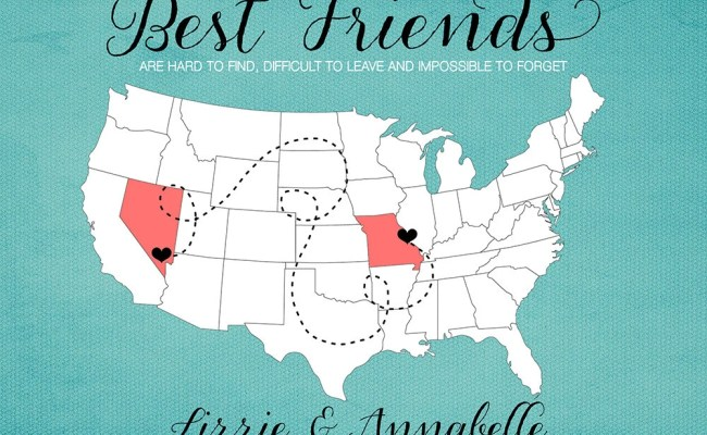 Bff Gift For Best Friend Moving Away Gift Print Long Etsy