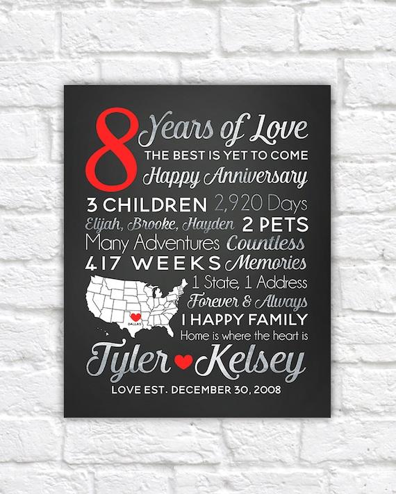 Happy 8 Year Anniversary : happy, anniversary, Anniversary, Dating, Wedding
