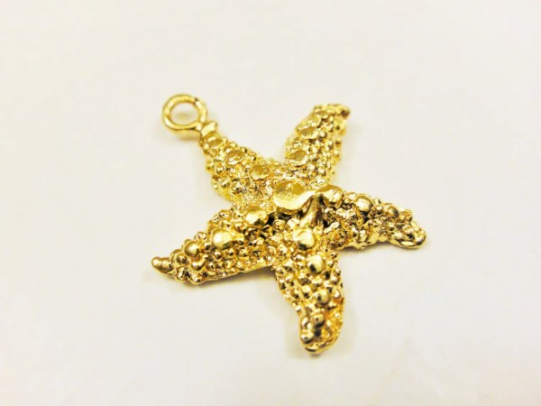 Vermeil18k Gold Over 925 Sterling Silver Starfish Charm 1