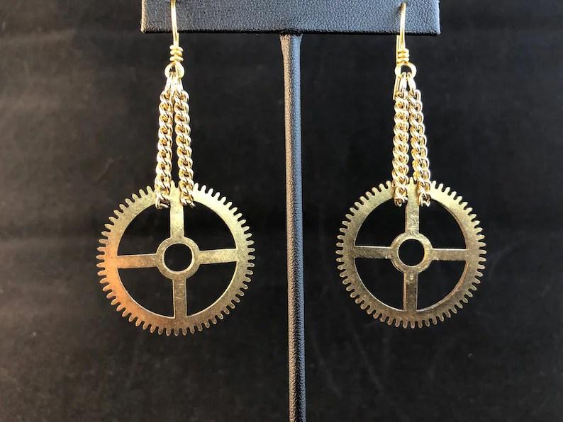 clock gears steampunk minimalist