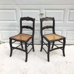 Farmhouse Dining Chairs Crate And Barrel Chair Etsy Pair Rustic With Cane Seats