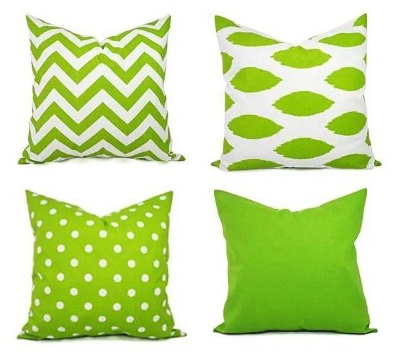 one green decorative pillow cover green and white pillows green pillow cover green chevron pillow green throw pillow cushion cover
